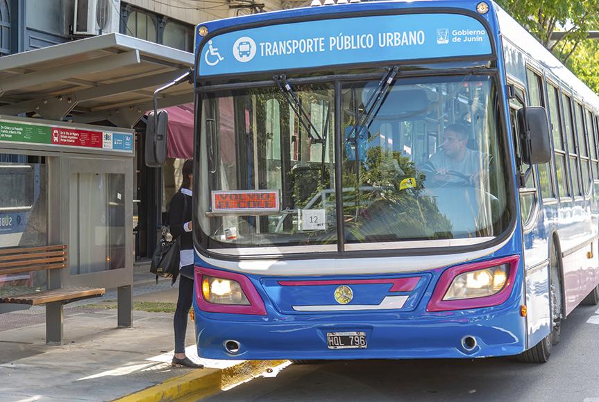 En la imagen se observa una foto de la fachada del micro de transporte publico urbano