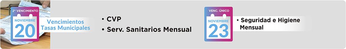 CVP, Servicios Sanitarios Mensual, Seguridad e Higiene Mensual
