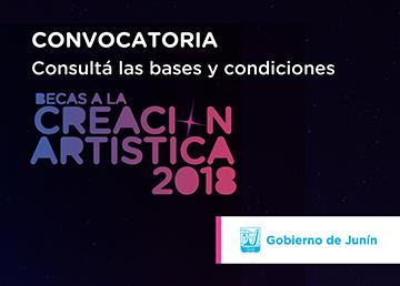 Convocatoria Becas a la Creación Artística 2018