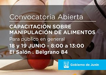 Curso de Manipulación de Alimentos 18 y 19 de JUNIO