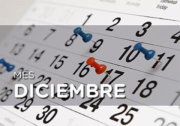 En la imagen se observan los días del mes de diciembre en un almanaque, y cuatro apuntadores de días colocados en los correspondientes 9, 11, 17 y 21 de dicho mes