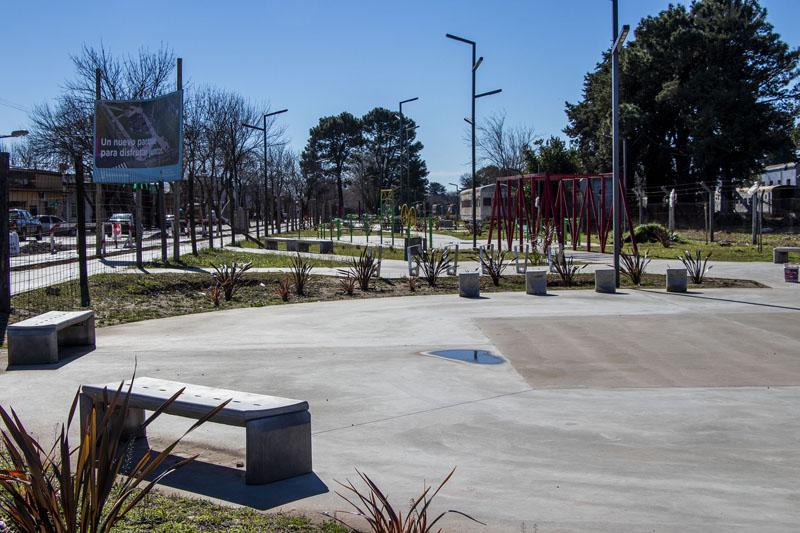 En la imagen se observa uno de los sectores del Parque Lineal, ya pronto a ser inaugurado.
