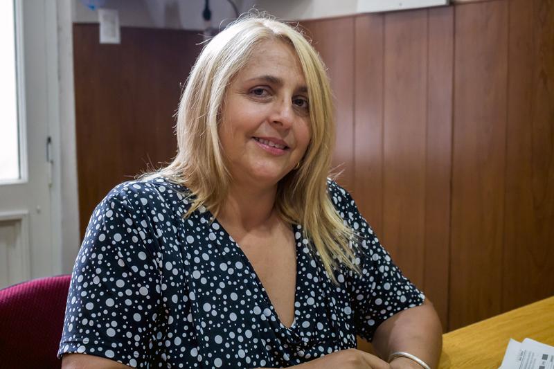 En la Imagen se observa a Marisa Luján, directora de género del Gobierno de Junín.