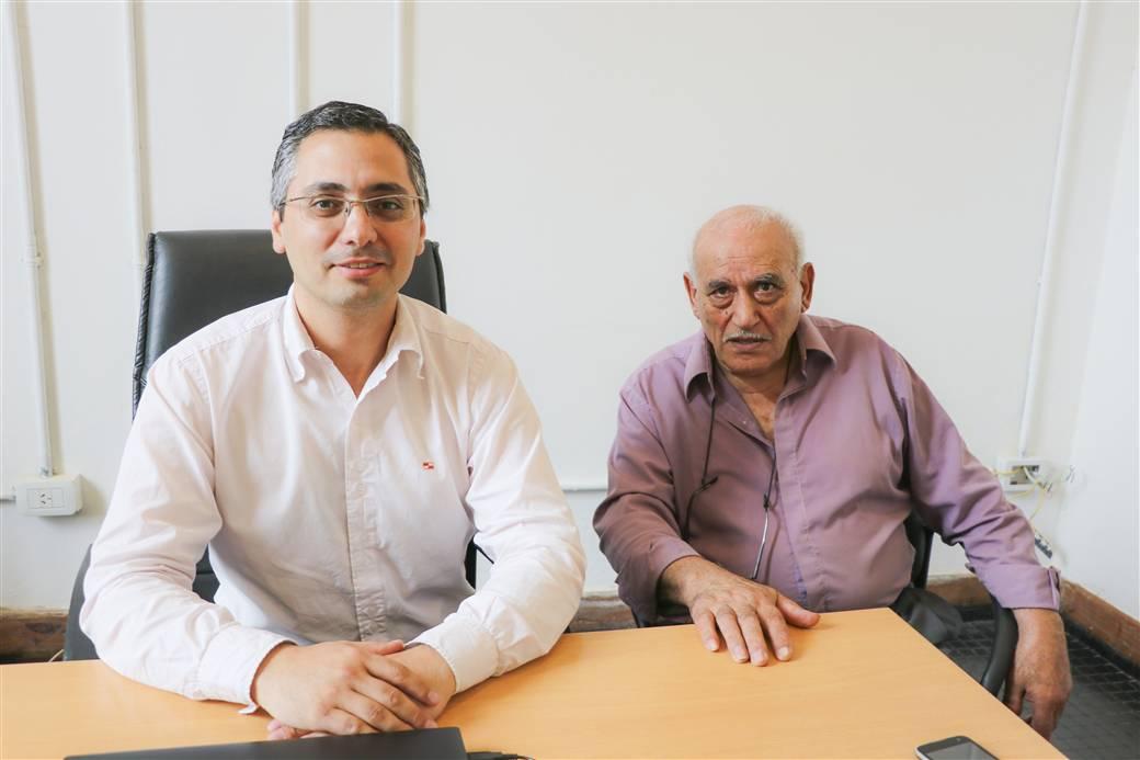 En la imagen se observa al director de relaciones institucionales del municipio, Mariano Spadano y al titular de la federación de sociedades de fomento, Osvaldo Giapor.