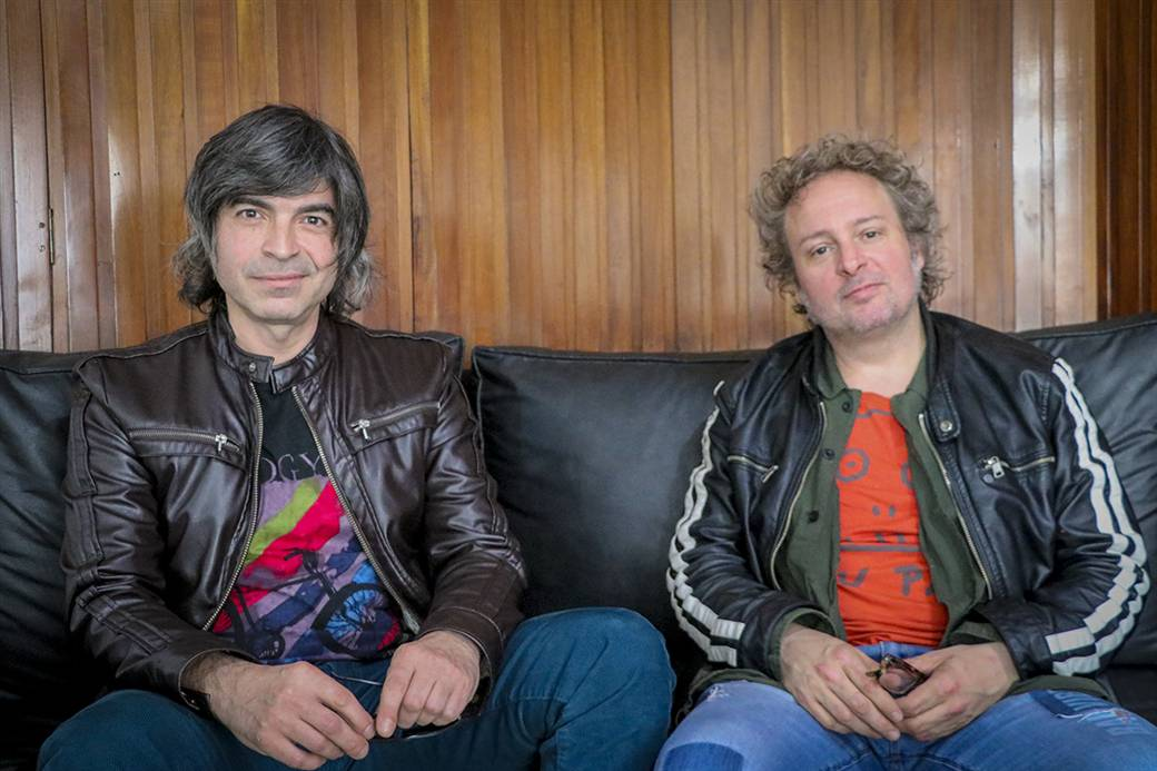 En la imagen se observa a Walter Piancioli, acompañado por Gustavo Trichilo, de la editorial Cerial.